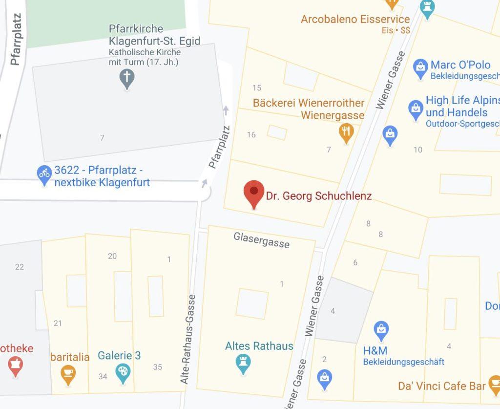 Kanzlei Schuchlenz Map